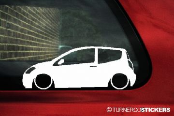 2x LOW Citroen C2 VTS / VTR 16v outline, Silhouette, car stickers, Decals
